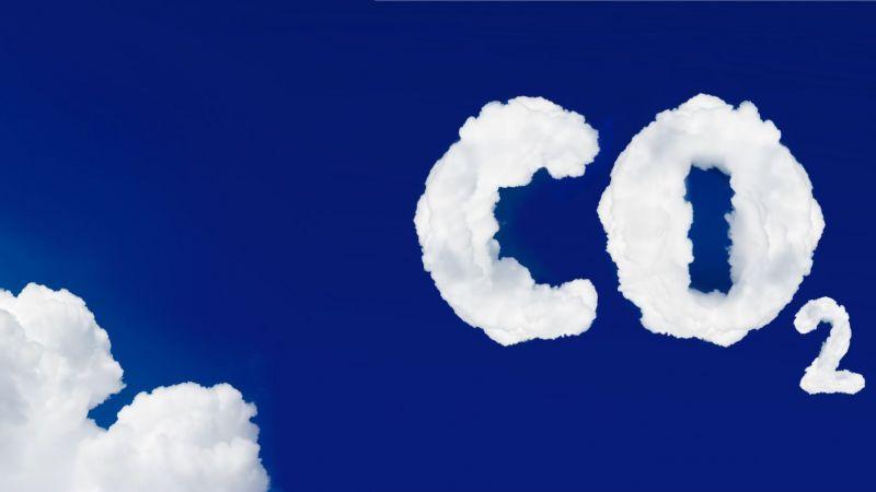 Symbolbild einer Wolke in Form von CO2