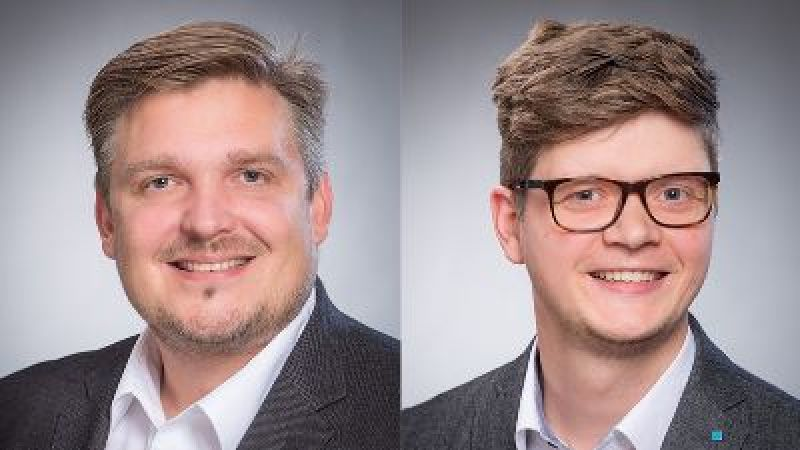 Porträtcollage von Elmar Brügging und Tobias Weide