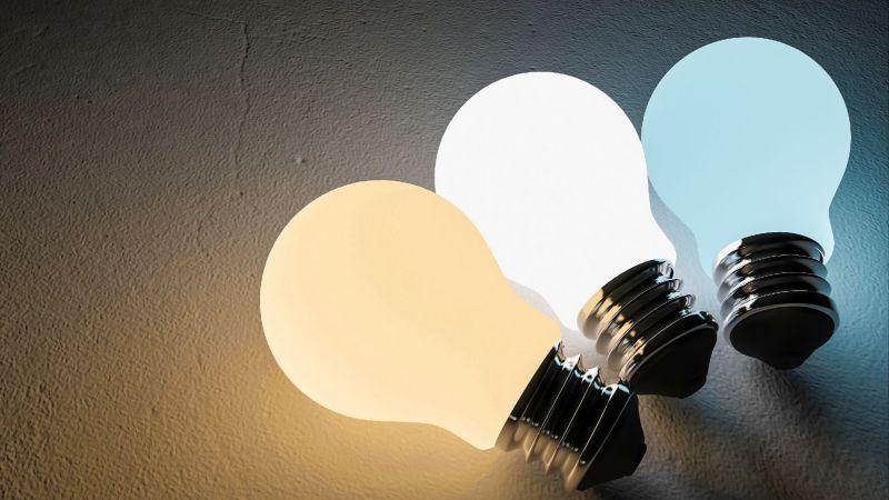 Drei LED-Glühbirnen
