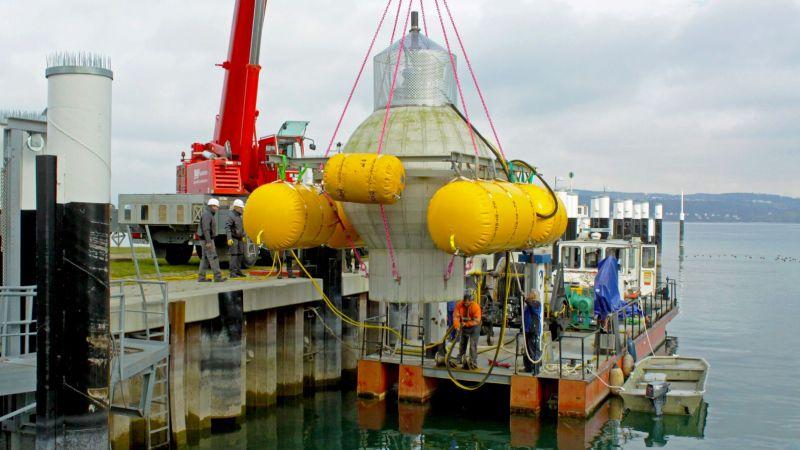 Praxistest des Pumpspeicherkraftwerks im Bodensee