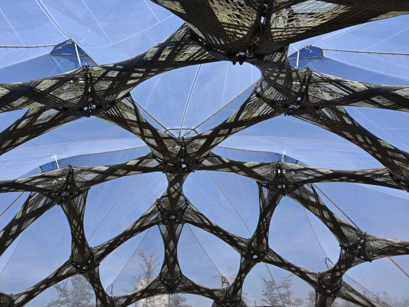 Symbolbild für Leichbau: Glaskuppeldach