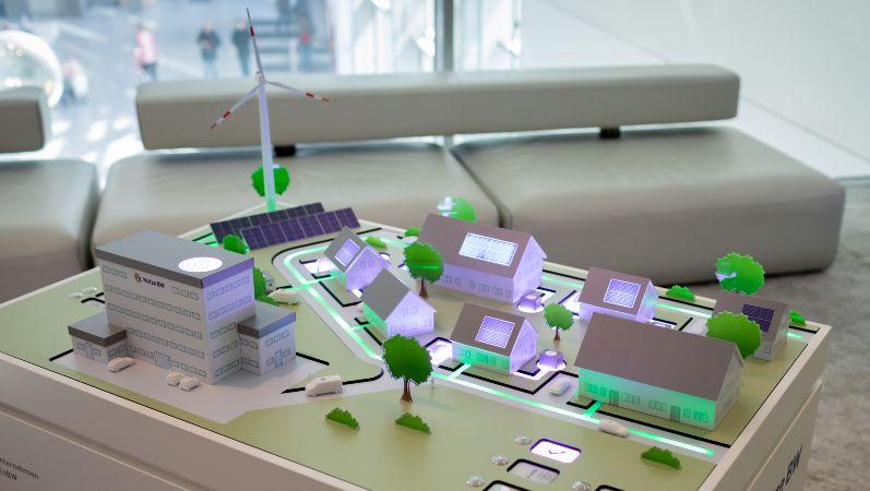 Modell eines dezentralen Energiesystems
