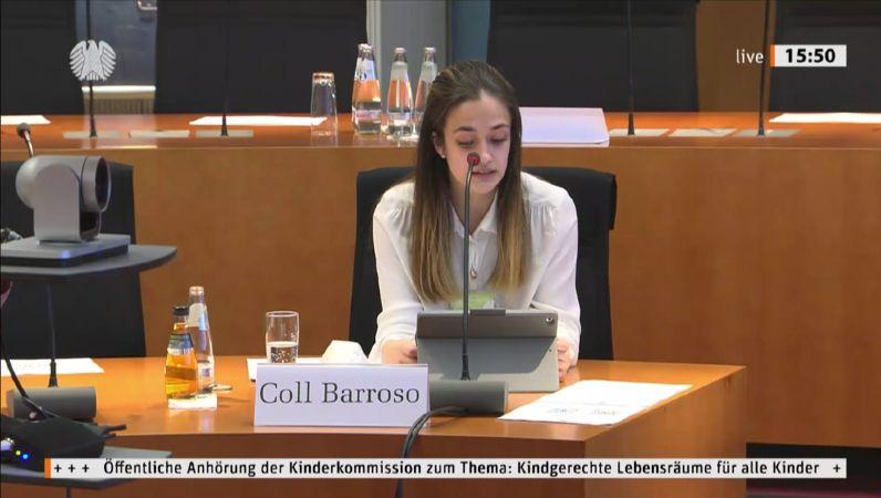 Noemi Coll Barroso im Bundestag