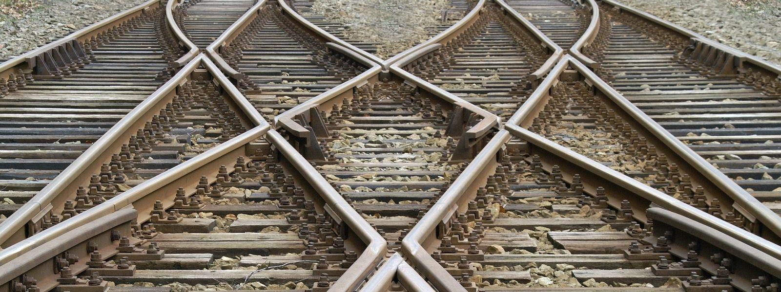 Weichen von Bahngleisen die symmetrisch zusammenführen